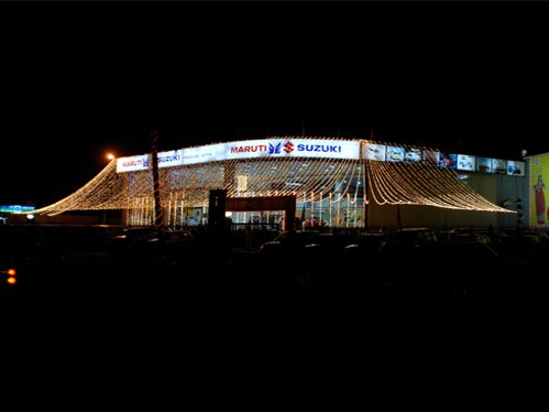 Our Maruti Showroom in Ranchi Decked up with Lights