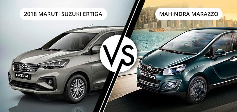 2018 Maruti Suzuki Ertiga Vs Mahindra Marazzo Winner
