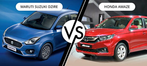 Swift Dzire Vs Honda Amaze Comparison